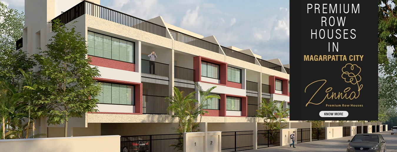 Premium Row Houses in Magarpatta city Zinnia row houses